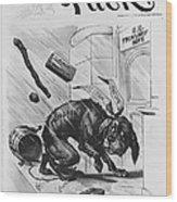 19th Century Political Cartoon Wood Print