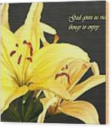1st Timothy Flower Wood Print