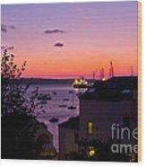 Sunrise Falmouth Docks Wood Print