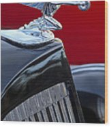 1935 Packard Hood Ornament Wood Print