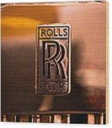 1937 Rolls-royce P-iii Saloon Hooper Wood Print