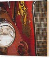 1941 Hahn Open Cab Fire Engine Wood Print