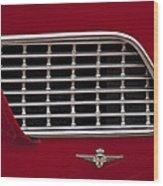 1960 Maserati 3500 Gt Coupe Emblem Wood Print