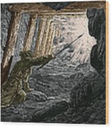 19th-century Coal Mining Wood Print