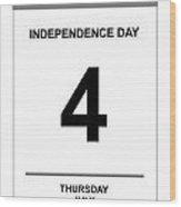 4th July Wood Print