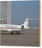 A Bombardier Global 5000 Vip Jet Wood Print