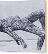 A Flayed Cadaver Wood Print
