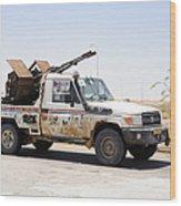 A Free Libyan Army Pickup Truck Wood Print