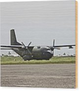 A German Air Force Transall C-160 Taxis Wood Print
