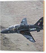 A Hawk Jet Trainer Aircraft Wood Print