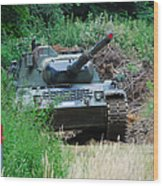 A Leopard 1a5 Mbt Of The Belgian Army Wood Print