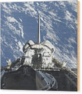 A Partial View Of Space Shuttle Wood Print