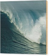 A Powerful Wave, Or Jaws, Off The North Wood Print