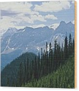A Scenic View Of The Rocky Mountains Wood Print
