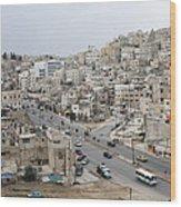 A Street Scene In Amman, Jordan Wood Print by Taylor S. Kennedy