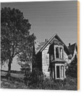 Abandoned House Wood Print by Cale Best