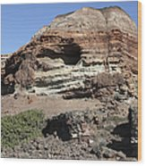 Abandoned Manganese Mine At Cape Vani Wood Print
