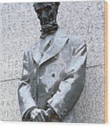 Abraham Lincoln Statue Wood Print by Granger