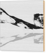 Abstract China Ink Paintings Wood Print