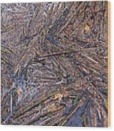 Abstract Flood Wood Print