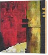 Abstract Landscape. Wood Print