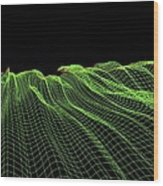Abstract Line Pattern Wood Print by Pasieka
