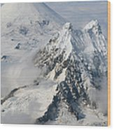 Aerial View Of Shishaldin Volcano Wood Print