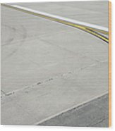 Airport Tarmac Wood Print