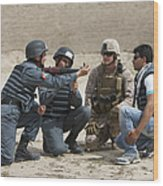 An Afghan Police Student Loads A Rpg-7 Wood Print