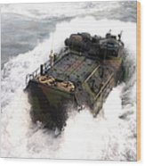 An Amphibious Assault Vehicle Wood Print
