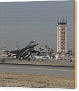 An F-16 Fighting Falcon Takes Wood Print