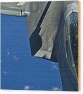 An F-22 Raptor In Flight Wood Print