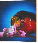 Analgesic Pills Wood Print