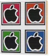 Apple Colors Wood Print