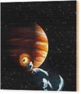Artwork Of First Comet Impacts On Jupiter, 1994 Wood Print
