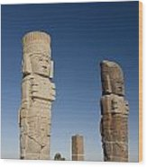 Atlantes Warrior Statues Wood Print