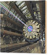 Atlas Detector, Cern Wood Print by David Parker