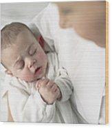 Baby Girl Wood Print
