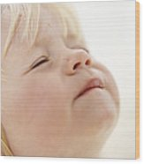 Baby Girl's Face Wood Print