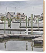 Bald Head Island Marina  Wood Print