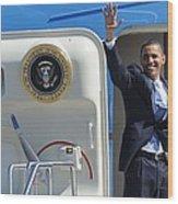 Barack Obama At A Public Appearance Wood Print