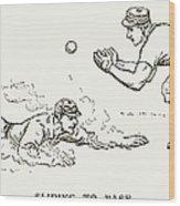 Baseball Players, 1889 Wood Print