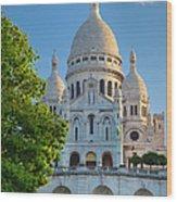 Basilique Du Sacre Coeur Wood Print