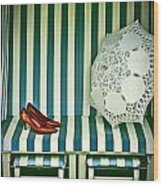Beach Chair Wood Print by Joana Kruse