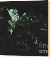 Bioluminescence Wood Print