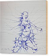 Birth Wood Print by Gloria Ssali