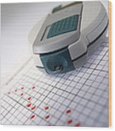 Blood Glucose Tester Wood Print