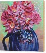 Blue Vase Wood Print