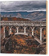 Bridge Over Autumn Wood Print
