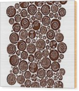 Brown Abstract Wood Print by Frank Tschakert